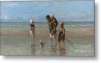 Children Of The Sea Metal Print by Jozef Israels