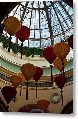 Chinese Lanterns Metal Print by Rae Tucker