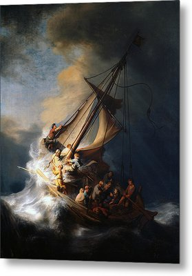 Christ In The Storm On The Lake Of Galilee Metal Print