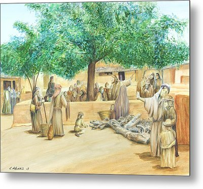 Christ Teaching Metal Print by Rick Ahlvers