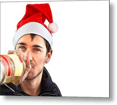 Christmas Drinking Metal Print by Boyan Dimitrov