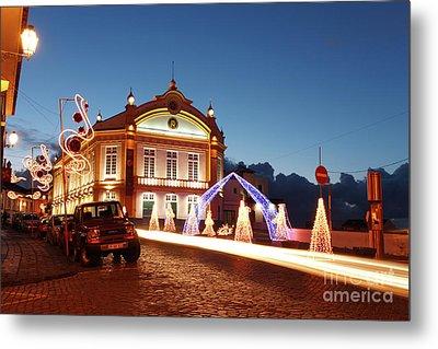 Christmas In Ribeira Grande Metal Print by Gaspar Avila