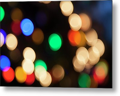 Metal Print featuring the photograph Christmas Lights by Susan Stone