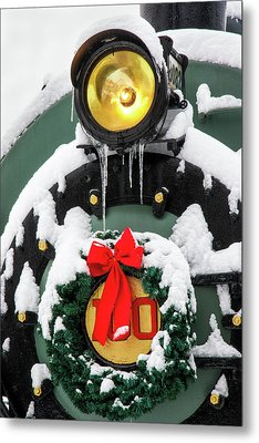 Christmas Train At Pacific Junction Metal Print