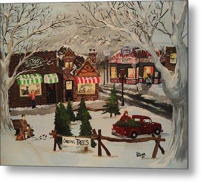Christmas Village Metal Print by Tim Loughner