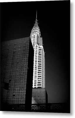 Chrysler Noir Metal Print by Linda Edgecomb