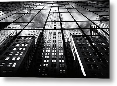 Metal Print featuring the photograph Chrysler Reflections by Jessica Jenney