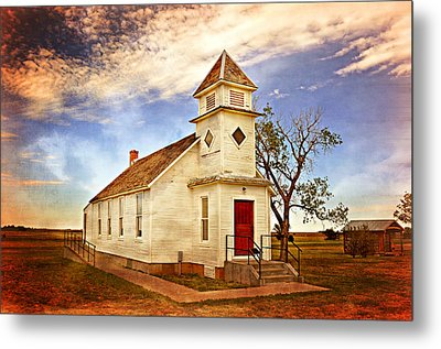 Church On The Plains Metal Print by Marty Koch