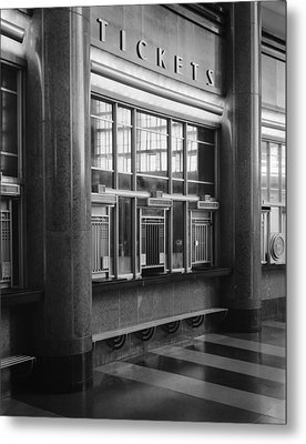 Cincinnati Union Terminal, Ticket Metal Print by Everett