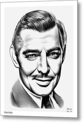 Clark Gable Metal Print by Greg Joens