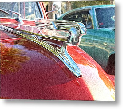 Classic Cars - 1941 Chevy Special Deluxe Business Coupe - Flying Lady Hood Ornament Metal Print by Jason Freedman