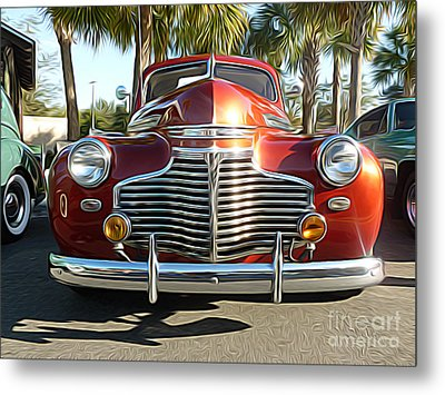 Classic Cars - 1941 Chevy Special Deluxe Business Coupe - Front End Metal Print by Jason Freedman