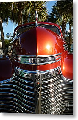 Classic Cars - 1941 Chevy Special Deluxe Business Coupe - Hood And Grille Metal Print by Jason Freedman