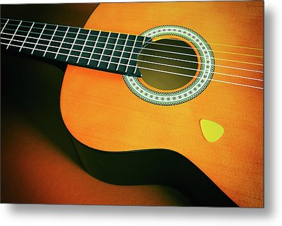 Metal Print featuring the photograph Classic Guitar  by Carlos Caetano