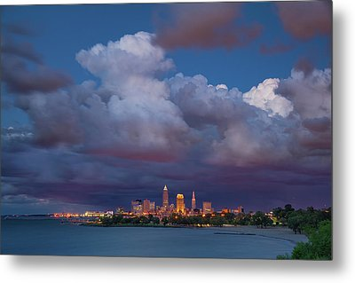 Metal Print featuring the photograph Cleveland Skyline  by Emmanuel Panagiotakis