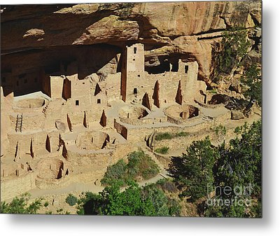 Cliff Palace Mesa Verde Metal Print by Debby Pueschel