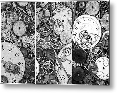 Clockworks Still Life Metal Print