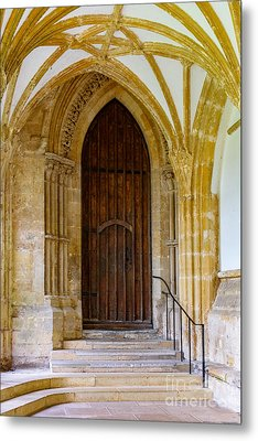 Cloisters, Wells Cathedral Metal Print by Colin Rayner