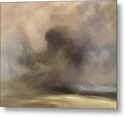 Cloudy Horizon Metal Print by Lonnie Christopher