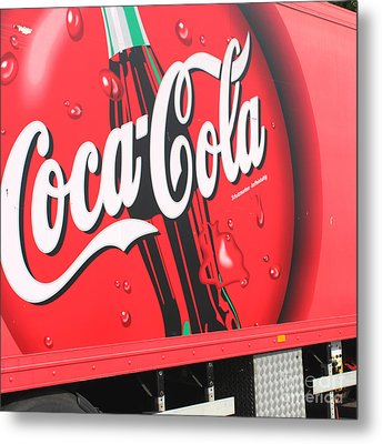 Coca Cola Truck Metal Print by Barbara Marcus