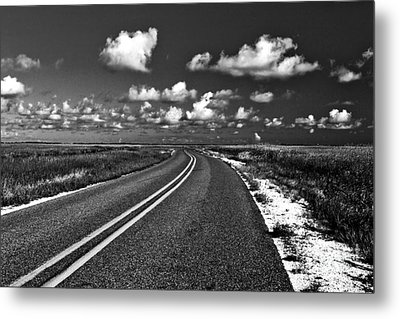Cocodrie Highway Metal Print by Scott Pellegrin