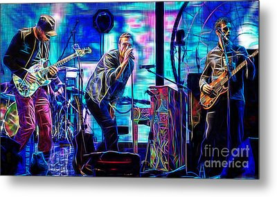 Coldplay Collection Chris Martin Metal Print by Marvin Blaine