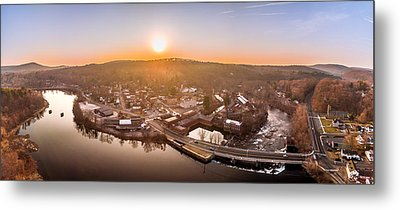 Colinsville, Connecticut Sunrise Panorama Metal Print by Petr Hejl