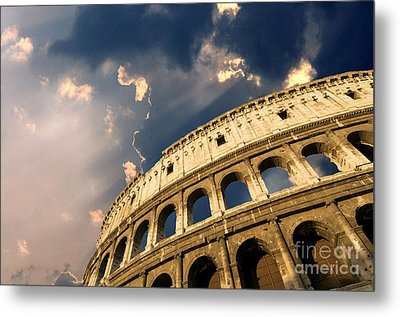 Coliseum. Rome. Lazio. Italy. Europe Metal Print by Bernard Jaubert