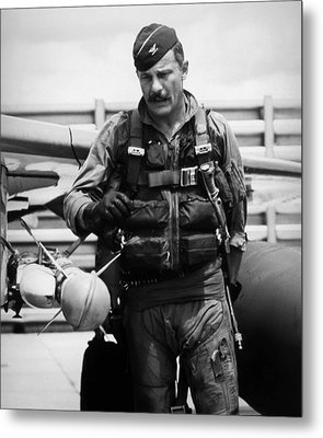 Colonel Robin Olds Metal Print by War Is Hell Store