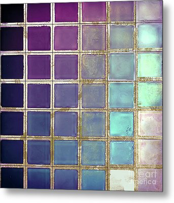 Color Chart Teal Metal Print by Mindy Sommers