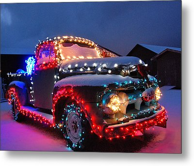 Colorado Christmas Truck Metal Print by Bob Berwyn