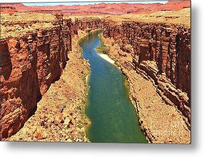 Colorado River Canyon Metal Print by Adam Jewell