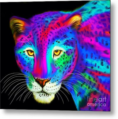 Colorful Jaguar  Metal Print by Nick Gustafson