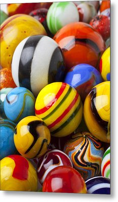 Colorful Marbles Metal Print