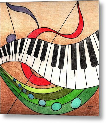 Colorful Music Metal Print by Michelle Young