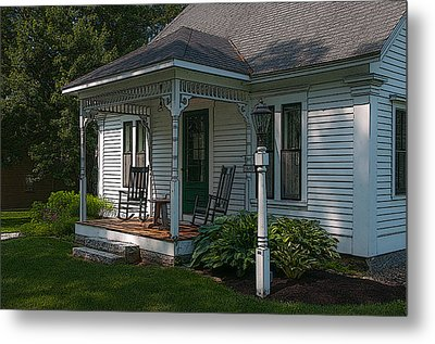 Come Sit On My Porch Metal Print by Brenda Jacobs