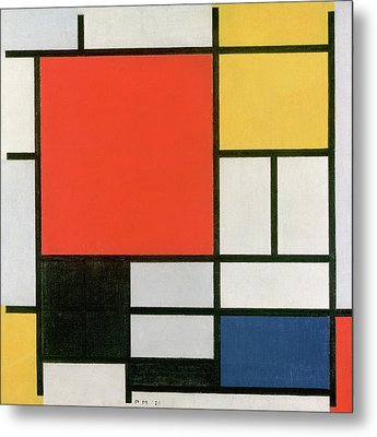 Composition In Red, Yellow, Blue And Black Metal Print by Piet Mondrian