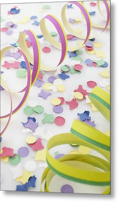 Confetti And Streamers Metal Print