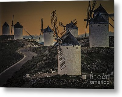 Consuegra Windmills 2 Metal Print by Heiko Koehrer-Wagner