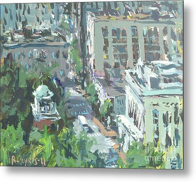 Contemporary Richmond Virginia Cityscape Painting Metal Print
