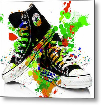 Converse All Stars Metal Print by Marvin Blaine