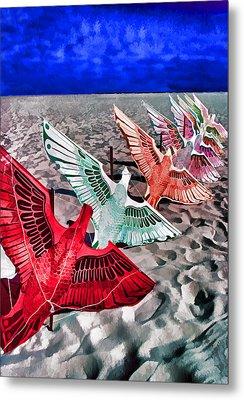 Copacabana Kites Metal Print by Dennis Cox WorldViews