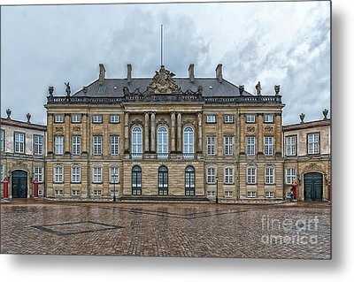 Metal Print featuring the photograph Copenhagen Amalienborg Palace by Antony McAulay