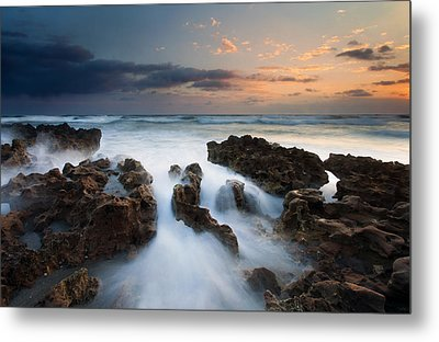 Coral Cove Dawn Metal Print by Mike  Dawson