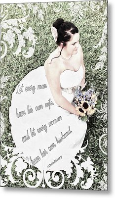 1 Corinthians 7 2 Metal Print by Michelle Greene Wheeler