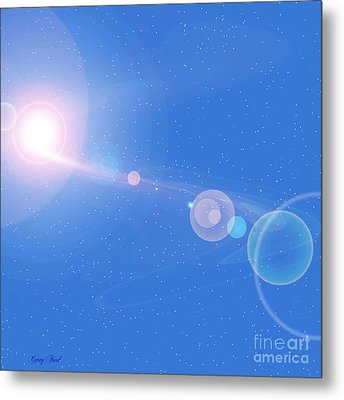 Cosmic String Metal Print by Corey Ford