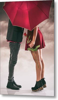 Metal Print featuring the photograph Couple Of Sweethearts by Carlos Caetano