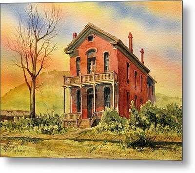 Courthouse Bannack Ghost Town Montana Metal Print by Kevin Heaney
