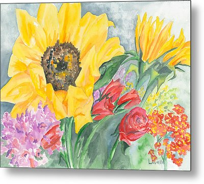 Courtney's Sunflower Metal Print by Kimberly Lavelle