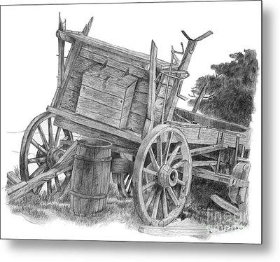 Covered Wagon Metal Print